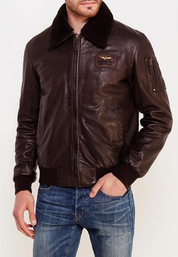 мужская куртка aeronautica militare, коричневая