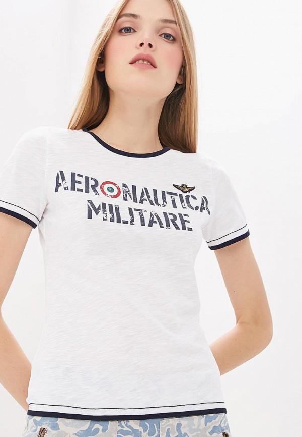 Футболка Aeronautica Militare, Aeronautica Militare AE003EWDRXO1, белый, Весна-лето 2019  - купить со скидкой