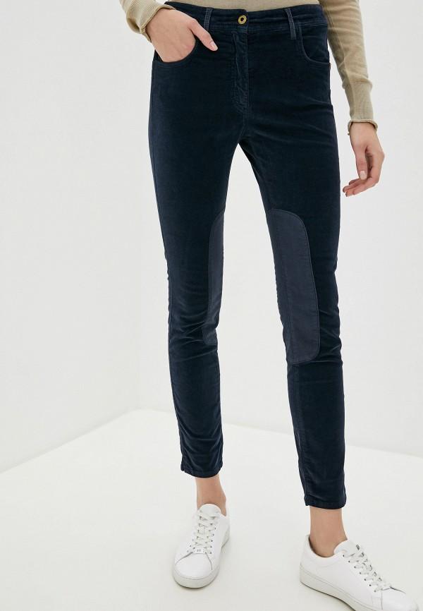 женские классические брюки aeronautica militare, синие