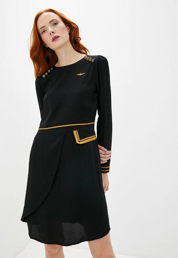 женское повседневные платье aeronautica militare, черное