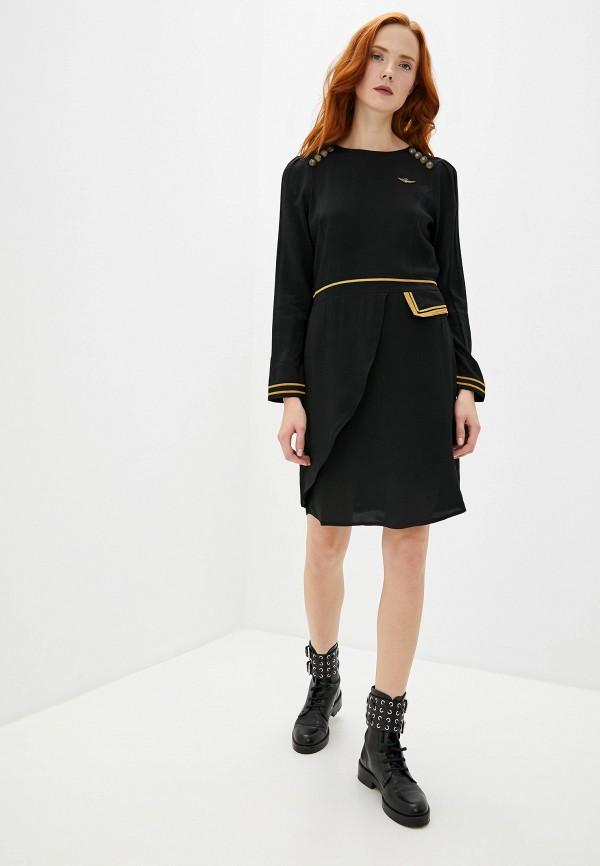 Фото 2 - женское повседневное платье Aeronautica Militare черного цвета