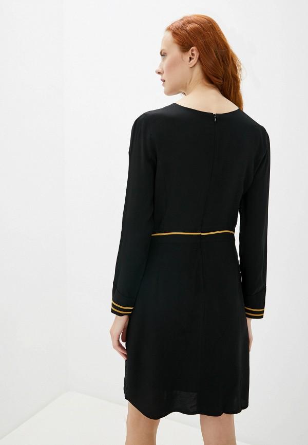Фото 3 - женское повседневное платье Aeronautica Militare черного цвета
