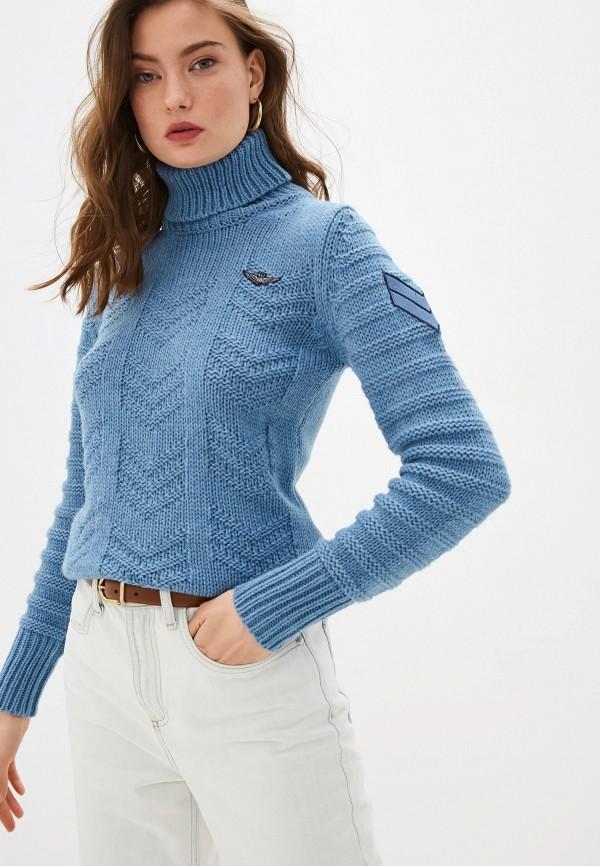 женский свитер aeronautica militare, голубой
