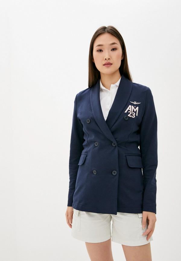 женский пиджак aeronautica militare, синий