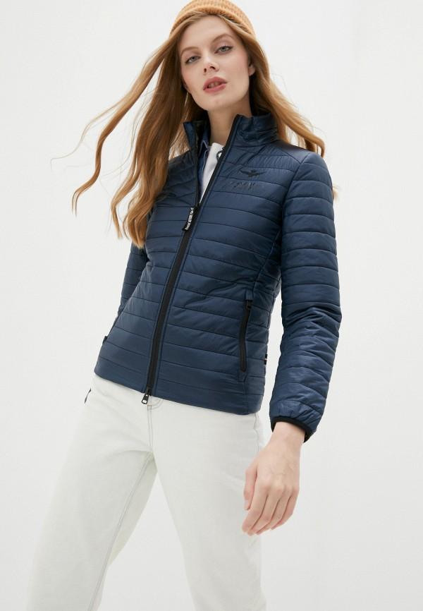 женская куртка aeronautica militare, синяя