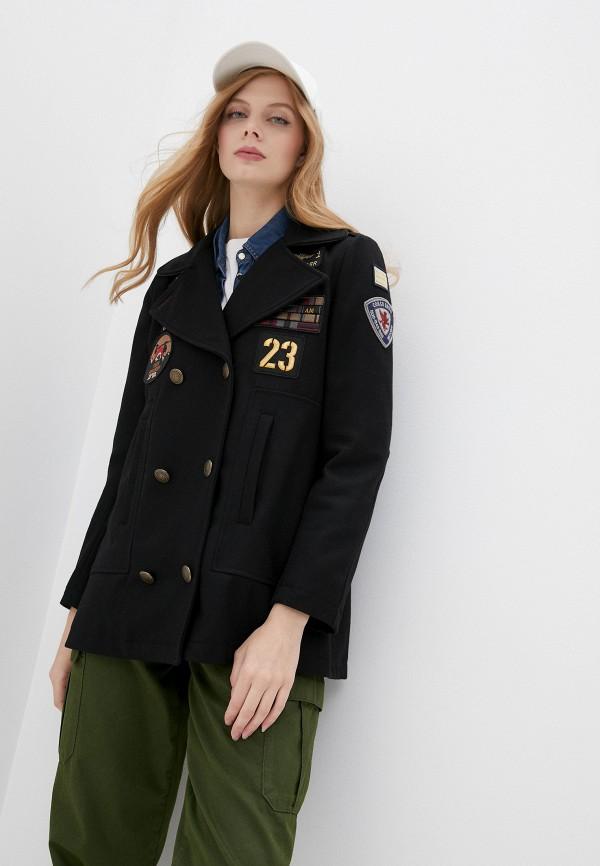 женское пальто aeronautica militare, черное