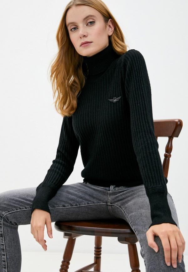 женский свитер aeronautica militare, черный