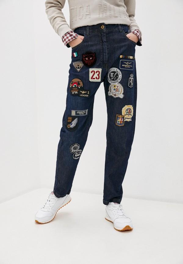 женские джинсы aeronautica militare, синие