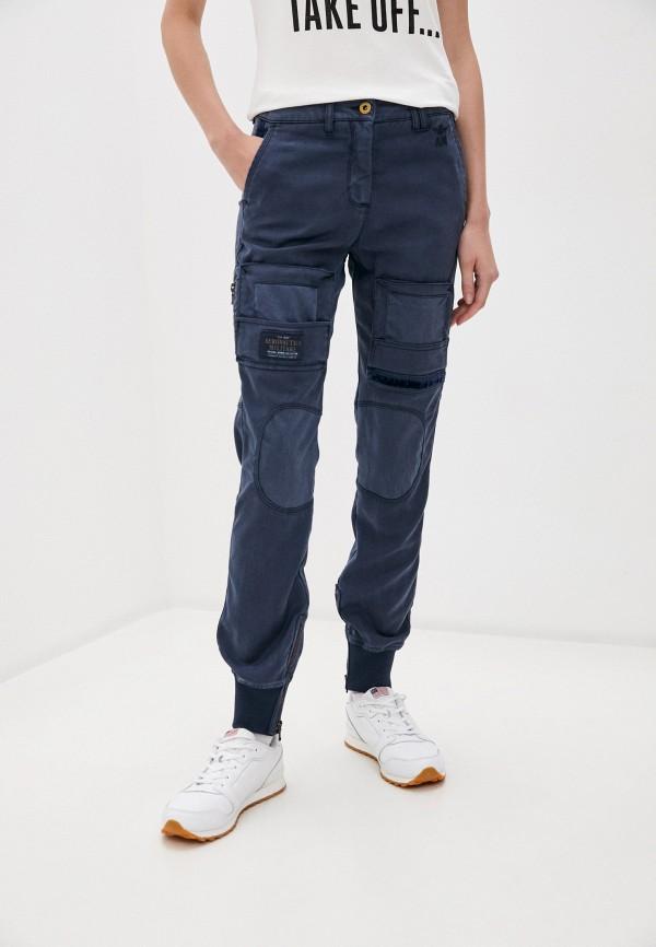 женские брюки aeronautica militare, синие