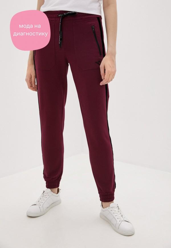 женские спортивные брюки aeronautica militare, бордовые