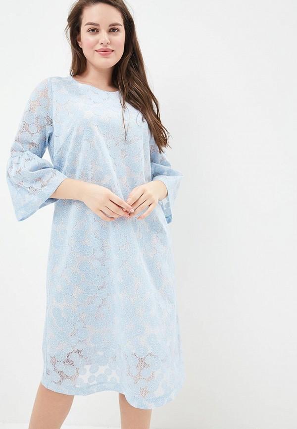 женское повседневные платье aelite, голубое
