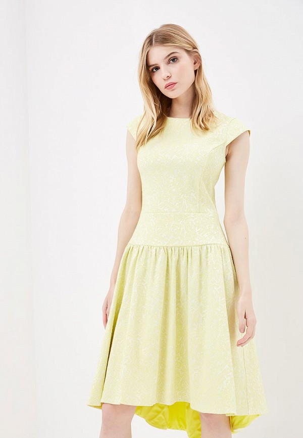 женское повседневные платье aelite, желтое