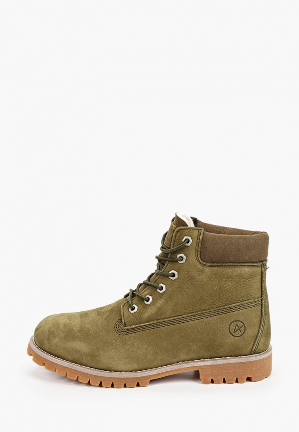 женские ботинки affex, зеленые