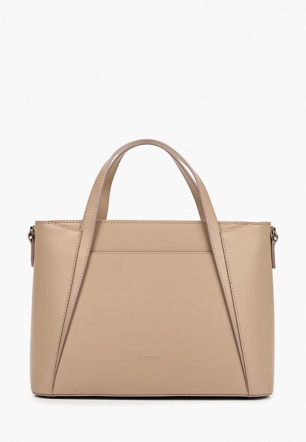 женская сумка afina, бежевая