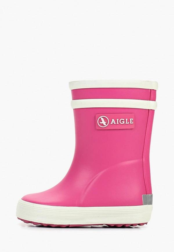 резиновые сапоги aigle для девочки, розовые