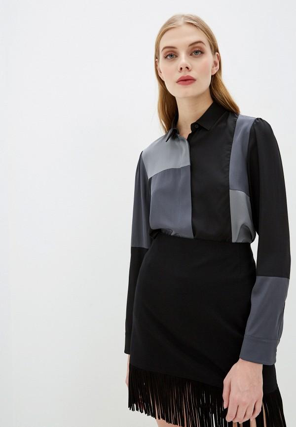 женская блузка akris punto, серая