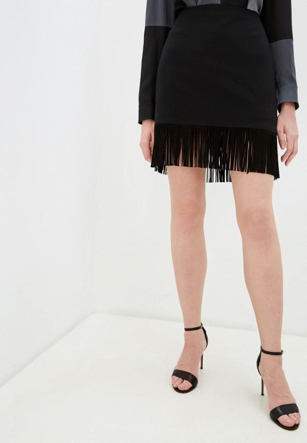 женская прямые юбка akris punto, черная
