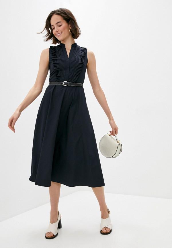 женское повседневные платье akris punto, синее