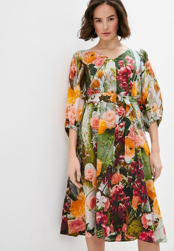 женское повседневные платье akris punto, разноцветное