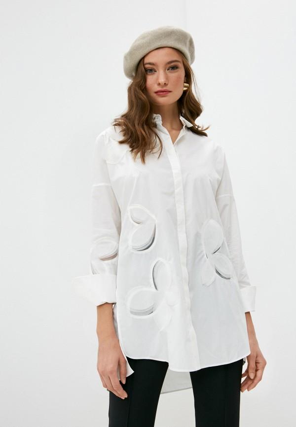 женская рубашка с длинным рукавом akris punto, белая