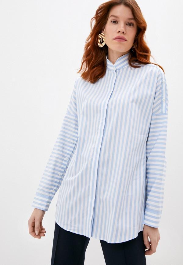 женская рубашка с длинным рукавом akris punto, голубая