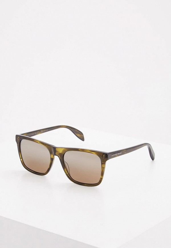 женские солнцезащитные очки alexander mcqueen, хаки