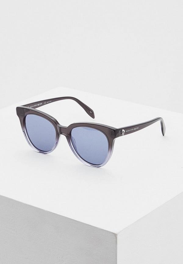 Купить Очки солнцезащитные Alexander McQueen, Alexander McQueen AL001DWCZJZ0, синий, Весна-лето 2019