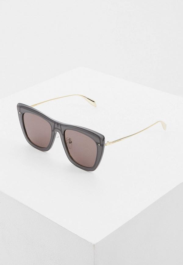 женские солнцезащитные очки alexander mcqueen, серые