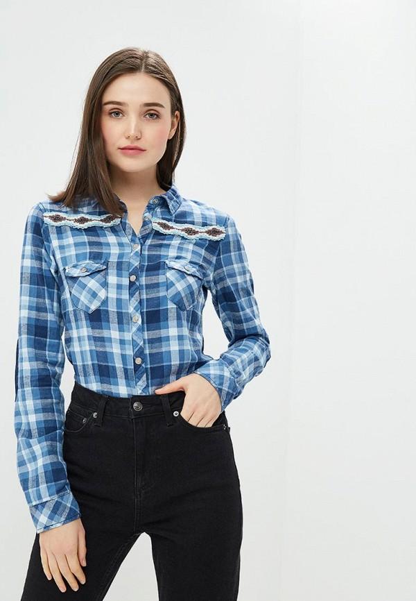 женская рубашка с длинным рукавом alcott, синяя