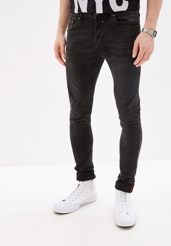 мужские зауженные джинсы alcott, черные