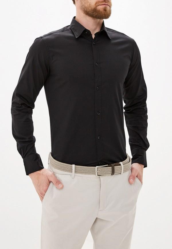 мужская рубашка с длинным рукавом alcott, черная