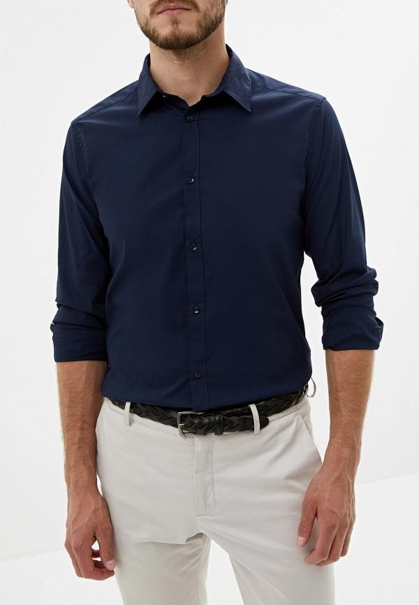 мужская рубашка с длинным рукавом alcott, синяя