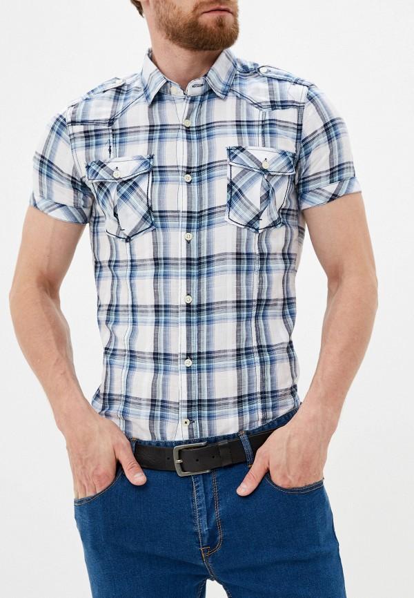 мужская рубашка с коротким рукавом alcott, синяя
