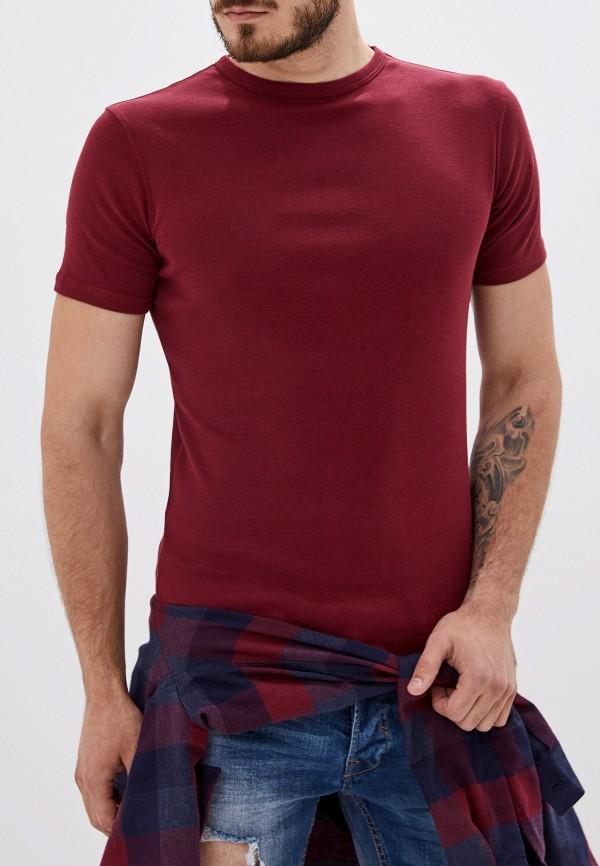 мужская футболка с коротким рукавом alcott, бордовая