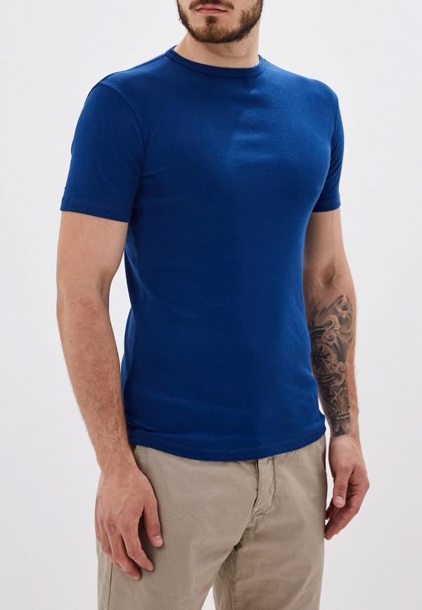 мужская футболка с коротким рукавом alcott, синяя