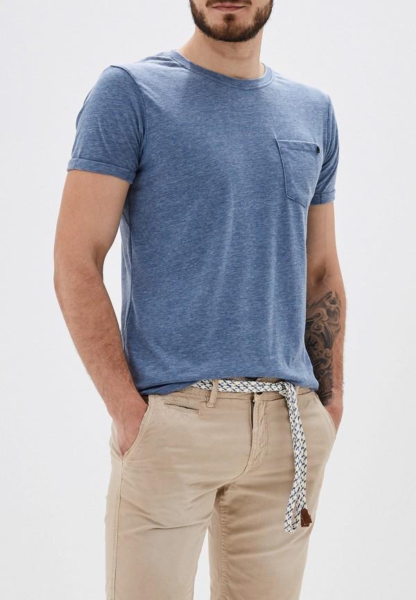 Фото - Мужскую футболку Alcott синего цвета