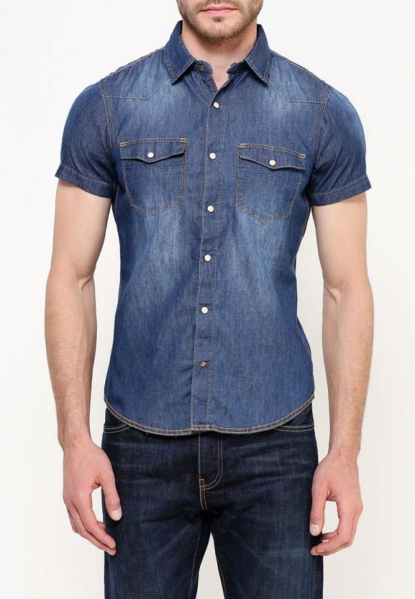 мужская джинсовые рубашка alcott, синяя