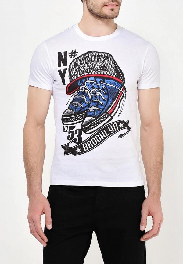мужская футболка с коротким рукавом alcott, белая