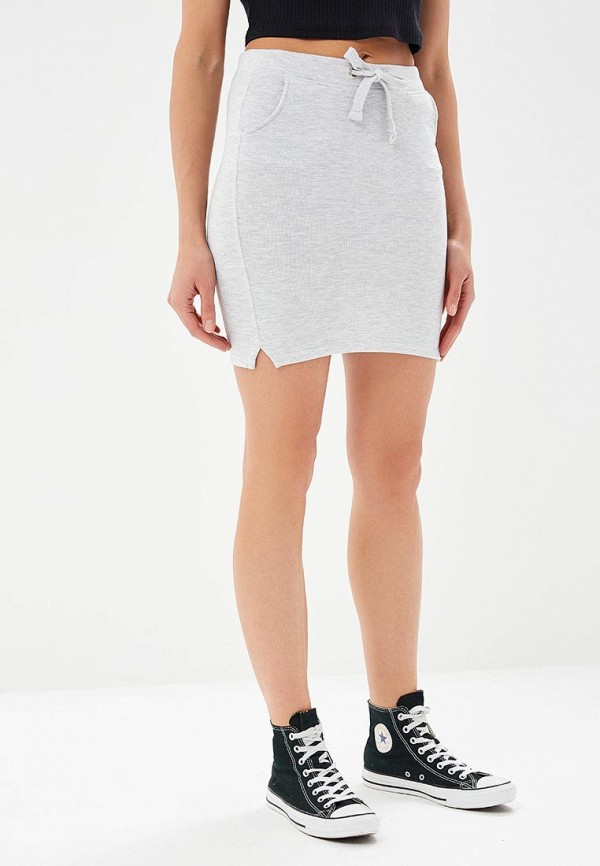 женская прямые юбка alcott, серая