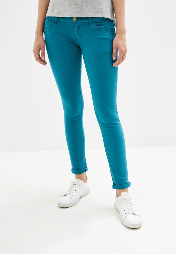 женские брюки alcott, бирюзовые