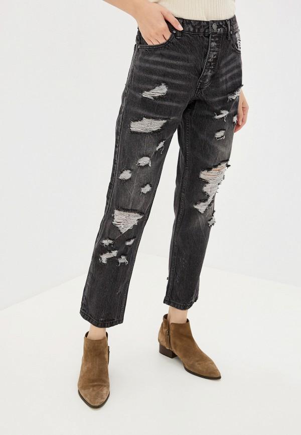 женские джинсы бойфренд alcott, черные