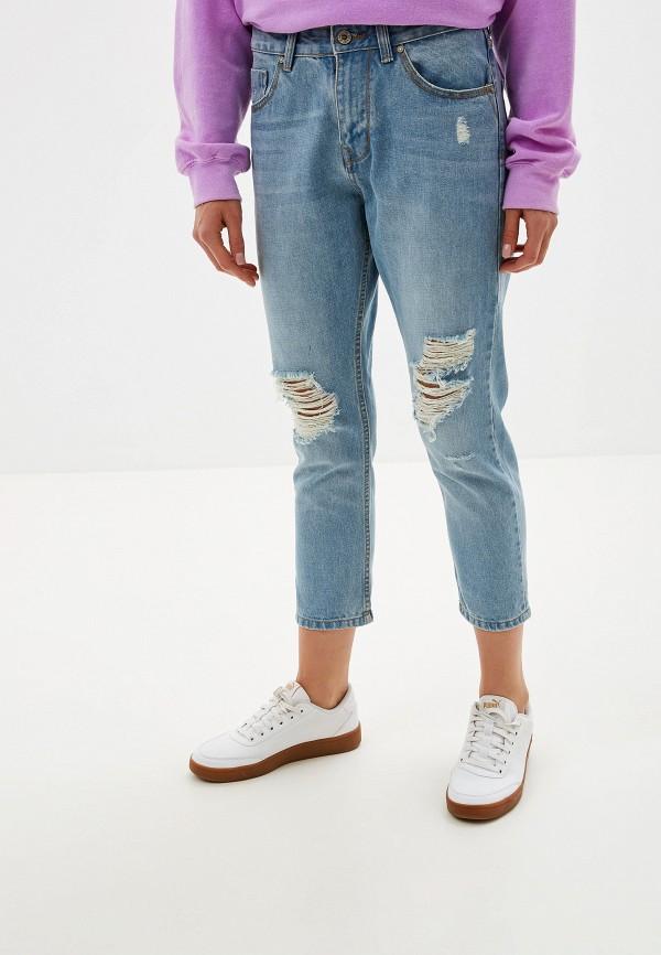 женские джинсы бойфренд alcott, голубые
