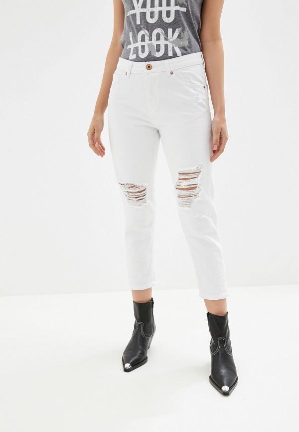 женские джинсы бойфренд alcott, белые