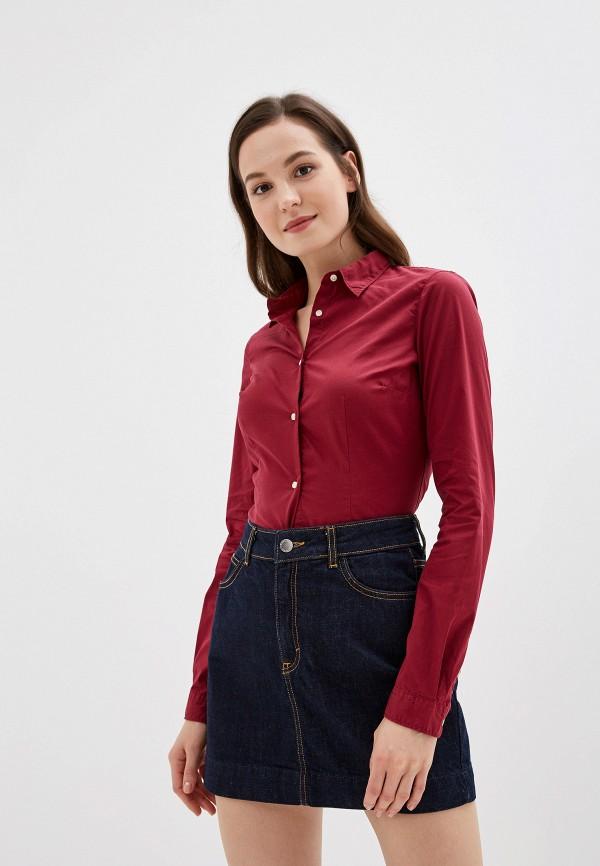 женская рубашка с длинным рукавом alcott, бордовая