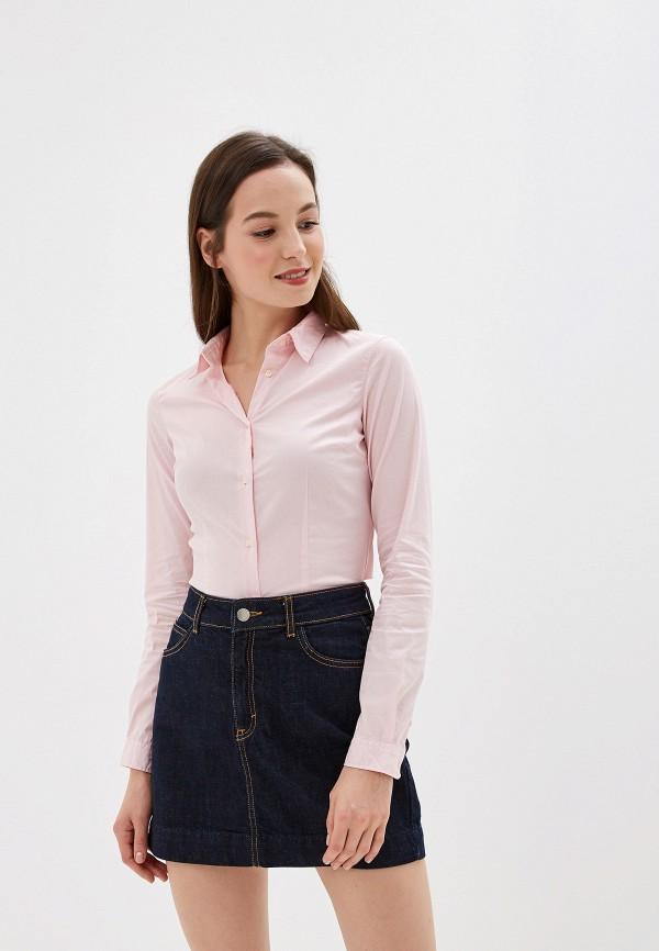 женская рубашка с длинным рукавом alcott, розовая