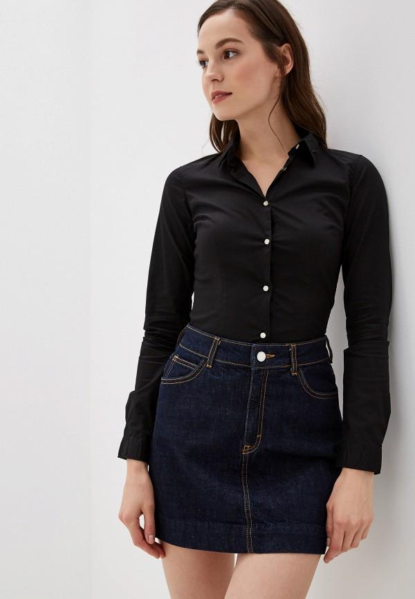 женская рубашка с длинным рукавом alcott, черная