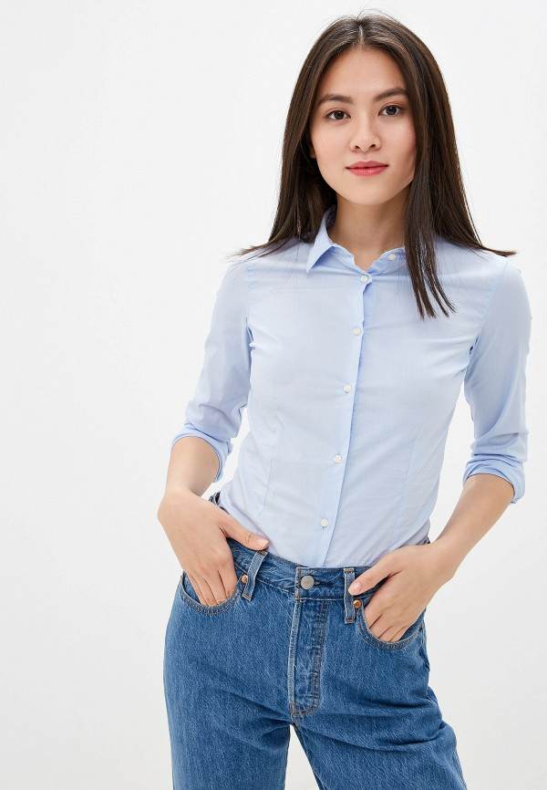 Фото - Женскую рубашку Alcott голубого цвета