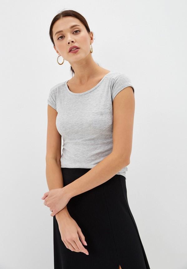 Фото - Женскую футболку Alcott серого цвета