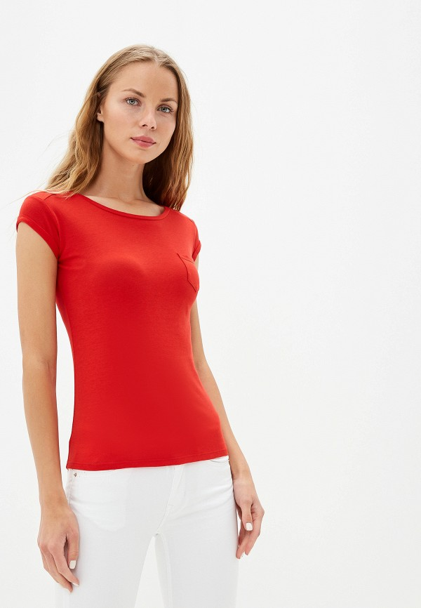 Фото - Женскую футболку Alcott красного цвета