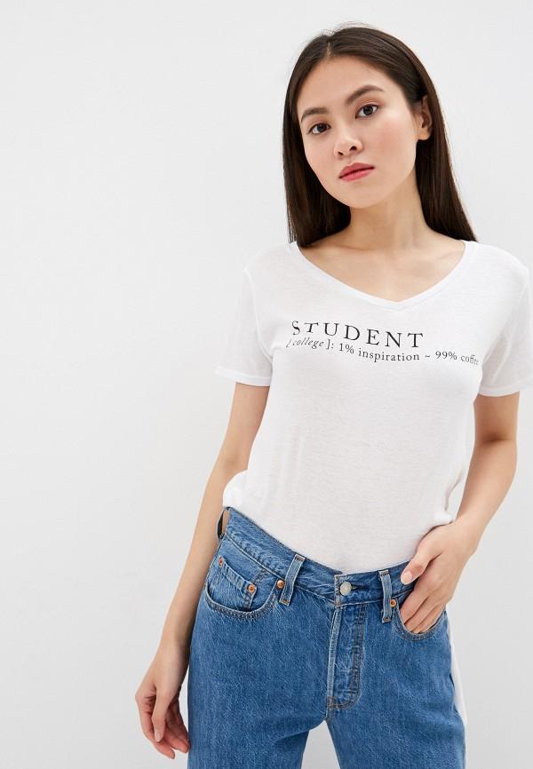 Фото - Женскую футболку Alcott белого цвета